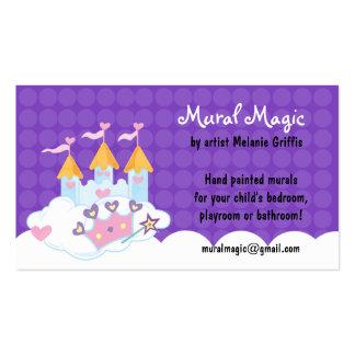 Tarjeta de visita púrpura del punto del castillo d