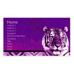 Tarjeta de visita púrpura del tigre