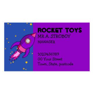 Tarjeta de visita púrpura rosada de Rocket
