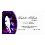 Tarjeta de visita púrpura traviesa del estilista 2