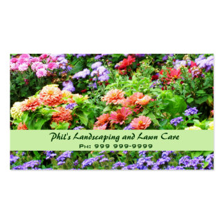 Tarjeta de visita que ajardina floral