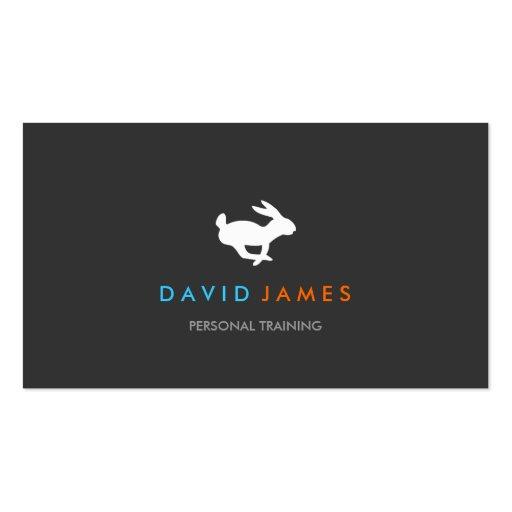 Tarjeta de visita rápida del logotipo del conejo
