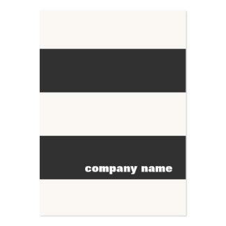 Tarjeta de visita rayada blanco y negro moderna