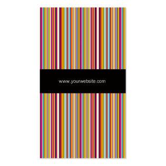 Tarjeta de visita rayada de la plantilla del color