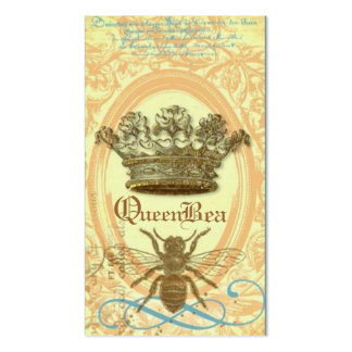 Tarjeta de visita real de la corona de la abeja