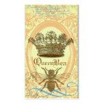 Tarjeta de visita real de la corona de la abeja re
