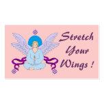 Tarjeta de visita real del ángel de la yoga