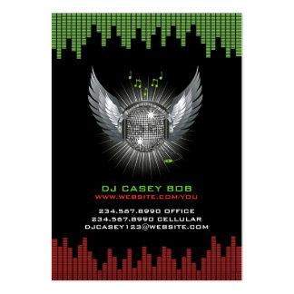 Tarjeta de visita rechoncha de DJ