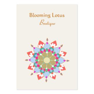 Tarjeta de visita rechoncha floreciente de Lotus