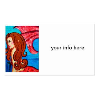 tarjeta de visita redheaded de la sirena