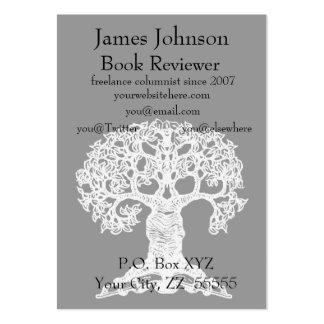 Tarjeta de visita regular del árbol de la lectura
