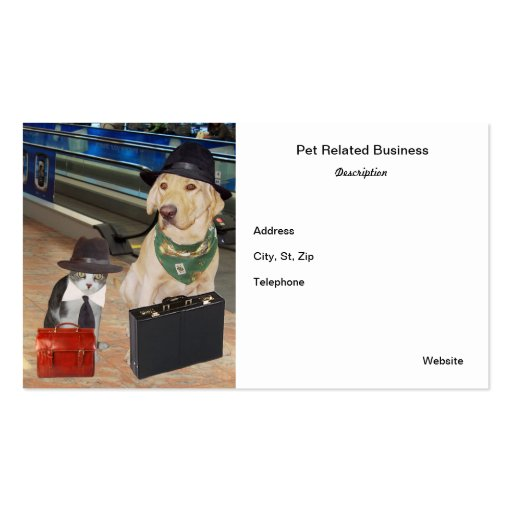 Tarjeta de visita relacionada del mascota