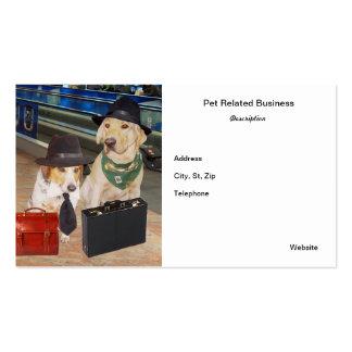 Tarjeta de visita relacionada del mascota/del perr