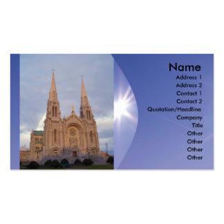 Tarjeta de visita religiosa de la iglesia