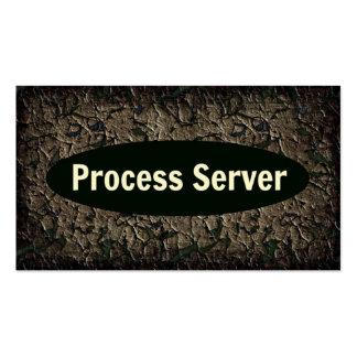 Tarjeta de visita resistida del servidor de proces