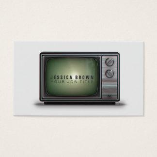 Tarjeta de visita retra del ejemplo del vintage TV