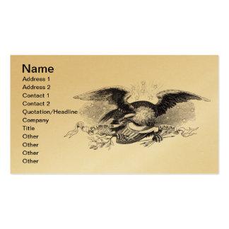 Tarjeta de visita revolucionaria de Eagle de la gu