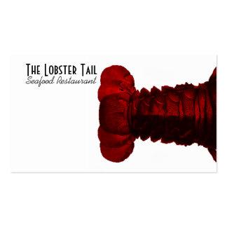 Tarjeta de visita roja de la cola de langosta de l