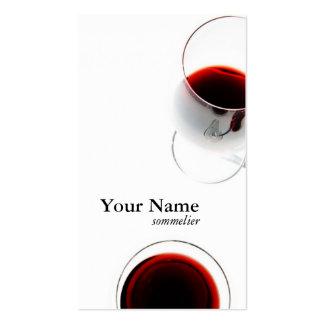 tarjeta de visita roja de la copa de vino - sommel