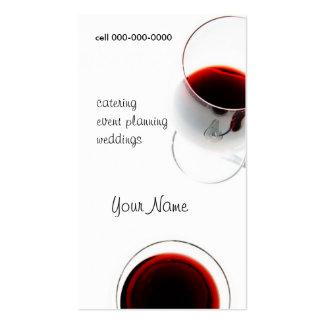 tarjeta de visita roja de la copa de vino