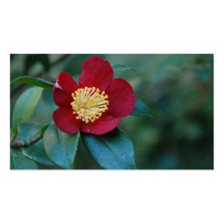 Tarjeta de visita roja de la flor