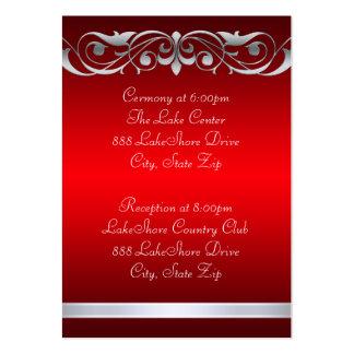 Tarjeta de visita roja de la grande duquesa huéspe