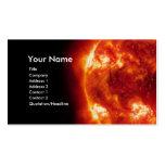 Tarjeta de visita roja de Sun
