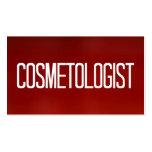 Tarjeta de visita roja del Cosmetologist