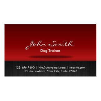 Tarjeta de visita roja del entrenamiento del perro