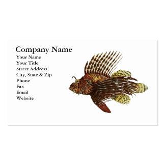 Tarjeta de visita roja del Lionfish