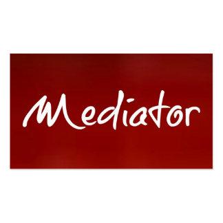 Tarjeta de visita roja del mediador