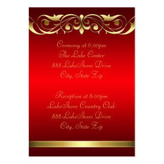 Tarjeta de visita roja del oro de la grande duques