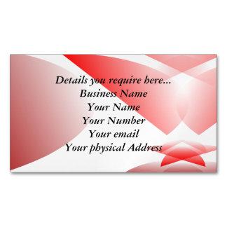 Tarjeta de visita roja del ruido de la mariposa tarjetas de visita magnéticas (paquete de 25)