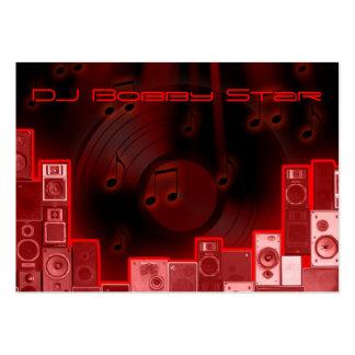 tarjeta de visita roja fresca del laser de DJ