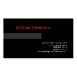 Tarjeta de visita roja gris negra del consultor
