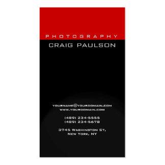 Tarjeta de visita roja gris negra vertical de la f