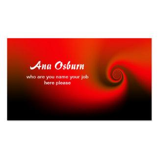 tarjeta de visita roja