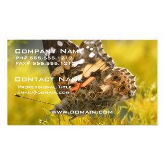 Tarjeta de visita rojiza de la mariposa de Emperer