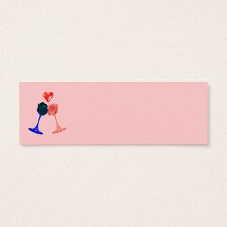 tarjeta de visita romántica de los rosas (tamaño