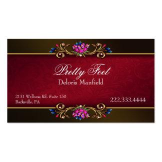 Tarjeta de visita romántica del damasco y del oro
