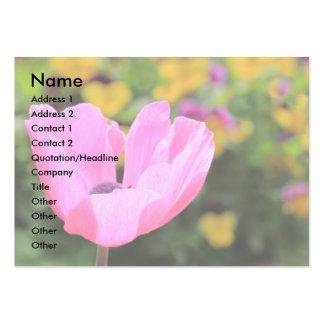 Tarjeta de visita rosada de la anémona