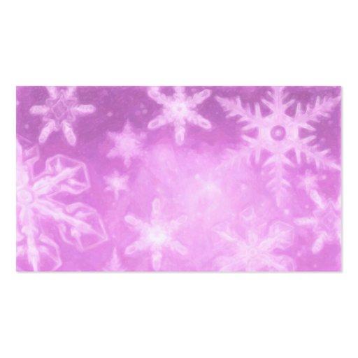 Tarjeta de visita rosada de la etiqueta del regalo