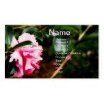 Tarjeta de visita rosada de la flor
