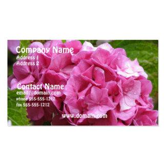 Tarjeta de visita rosada de la flor del Hydrangea