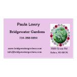 Tarjeta de visita rosada de la flor del Peony