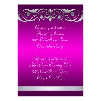 Tarjeta de visita rosada de la grande duquesa hués