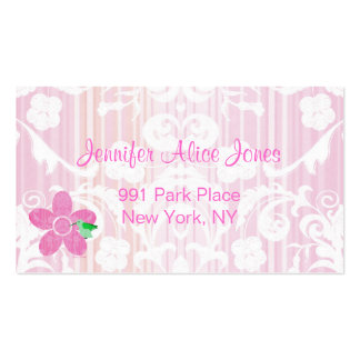 Tarjeta de visita rosada de la mamá del damasco