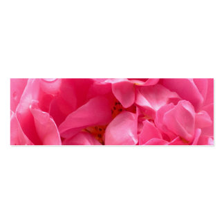 Tarjeta de visita rosada de la señal del Peony