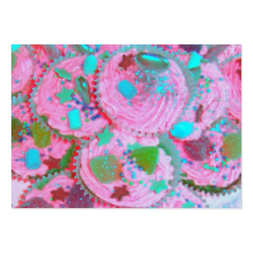 Tarjeta de visita rosada de las magdalenas rechonc