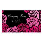 Tarjeta de visita rosada de los rosas del vintage